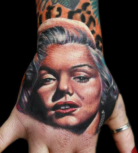 Realistic Hand Tattoo by Cecil Porter