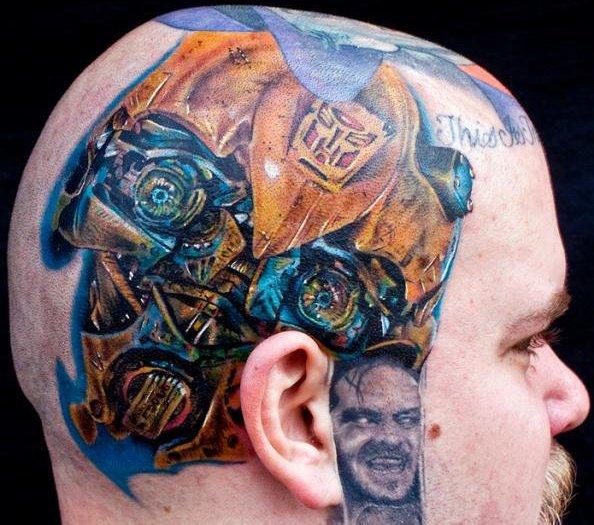 Tatuaggio Fantasy Testa di Cecil Porter
