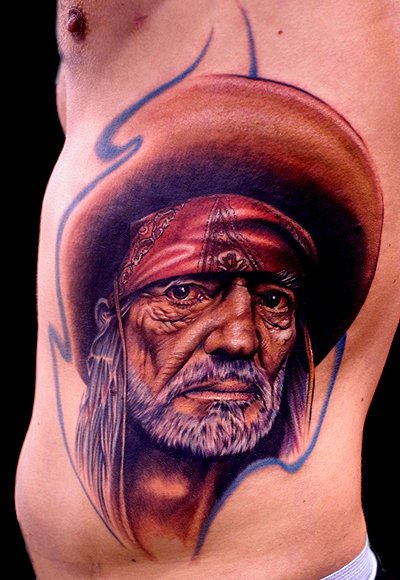 Portrait Realistic Side Tattoo by Cecil Porter