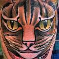Arm Cat tattoo by Nick Baldwin