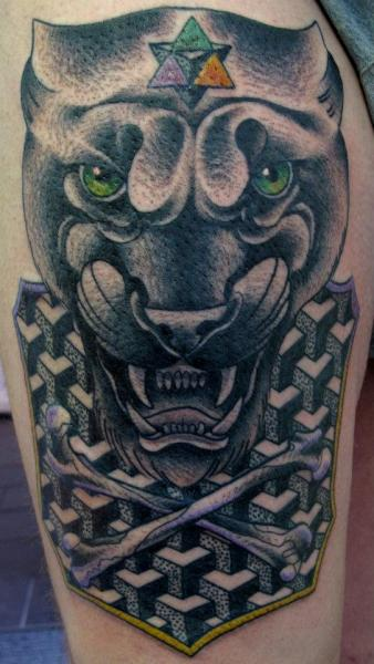 Shoulder Panther Tattoo by Nick Baldwin