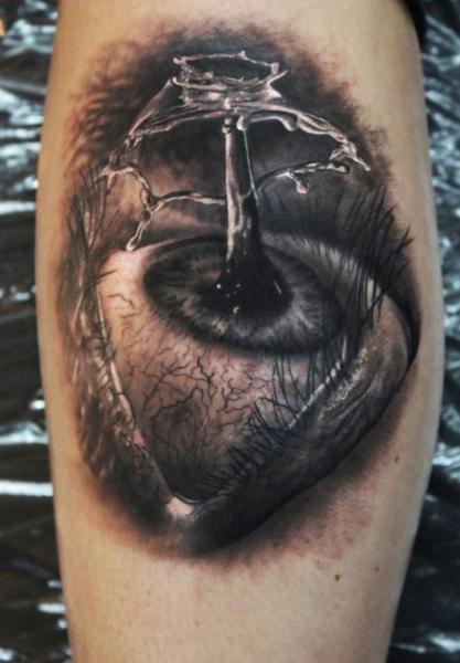 Arm Fantasy Eye Tattoo by Georgi Kodzhabashev