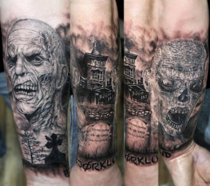 Tatuaje Brazo Fantasy Monstruo por Georgi Kodzhabashev