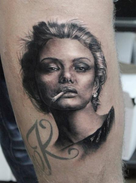 Arm Portrait Realistic Tattoo by Georgi Kodzhabashev