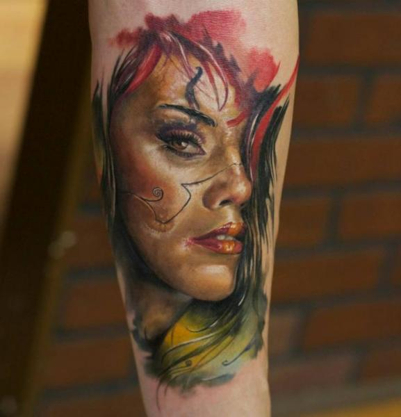 Arm Fantasy Women Tattoo by Bloodlines Gallery
