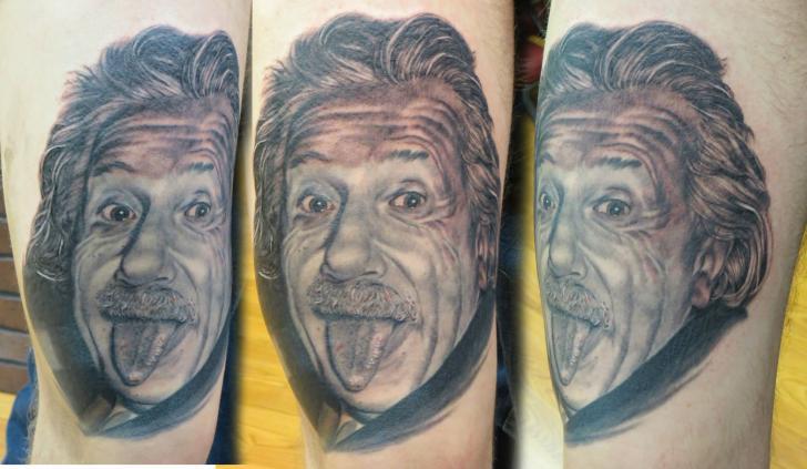 Realistic Einstein Tattoo by Bloodlines Gallery