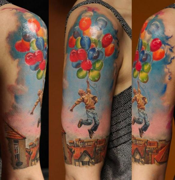 Shoulder Arm Fantasy Tattoo by Bloodlines Gallery