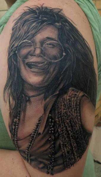 Shoulder Portrait Realistic Tattoo by Bloodlines Gallery