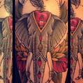 Arm Old School Elefant tattoo von Sarah B Bolen