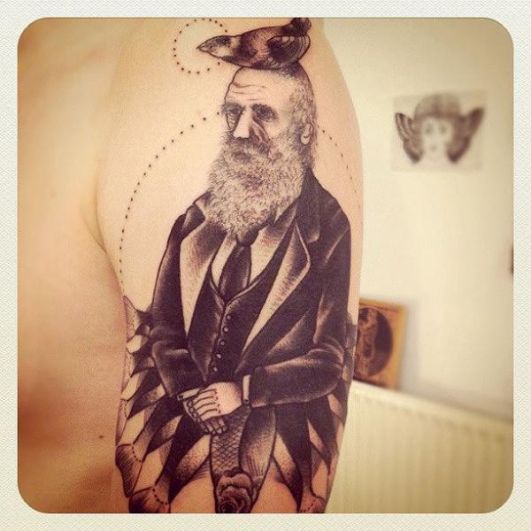 Shoulder Fantasy Men Tattoo by Sarah B Bolen