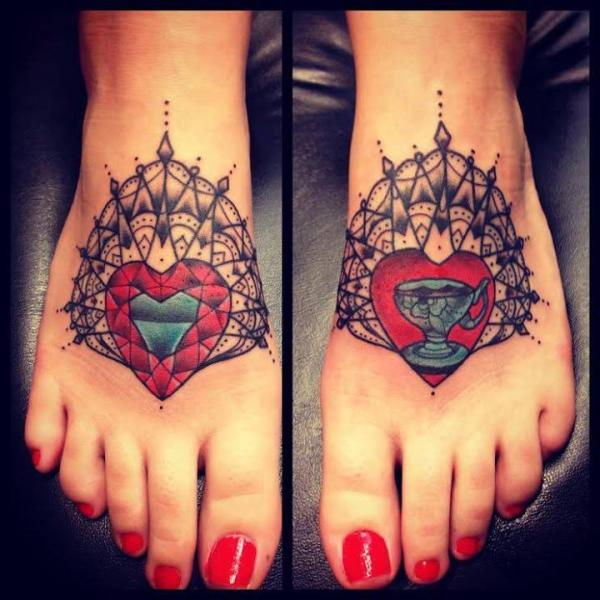 old school foot geometric tattoo by sarah b bolen. Black Bedroom Furniture Sets. Home Design Ideas