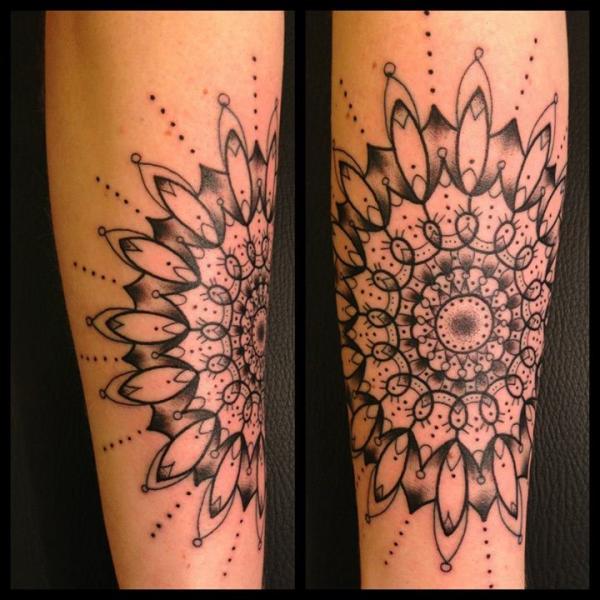 Arm Geometric Tattoo by Sarah B Bolen