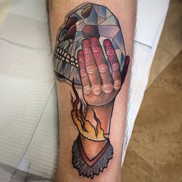 Arm Skull Diamond Abstract Tattoo by Earth Gasper Tattoo