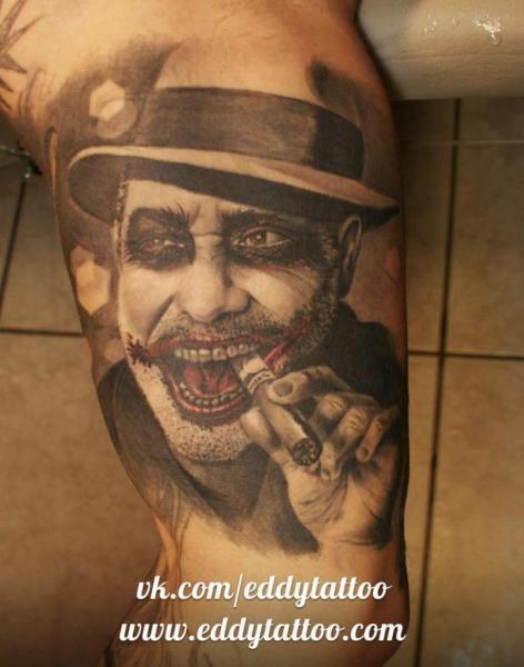 Arm Fantasy Joker Tattoo by Eddy Tattoo