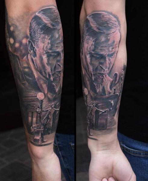 Arm Portrait Realistic Tattoo by Eddy Tattoo