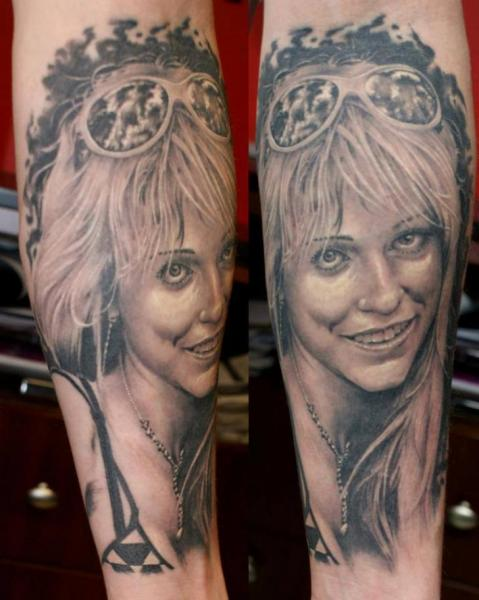 Arm Portrait Realistic Tattoo by Eddy Tattoo