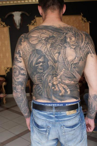 Fantasy Back Tattoo by Eddy Tattoo