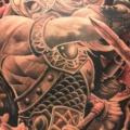 Fantasy Back Warrior tattoo by No Remors Tattoo