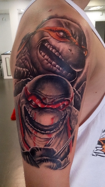 Fantasy Ninja Turtle Tattoo by No Remors Tattoo