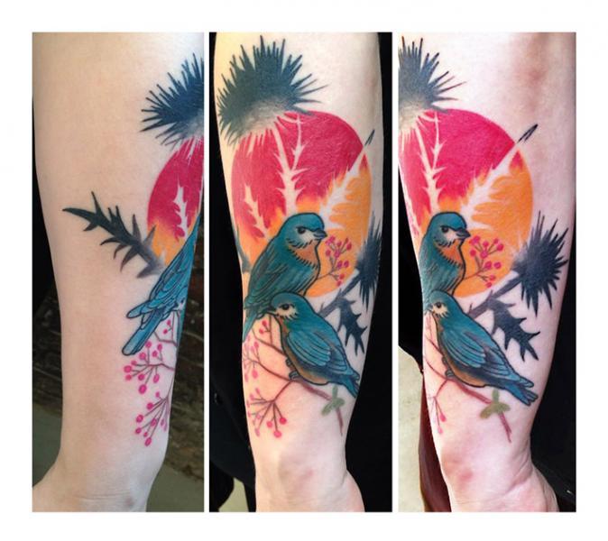 Tatuaggio Braccio Uccello di Julia Rehme