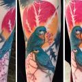 tatuaje Brazo Pájaro por Julia Rehme