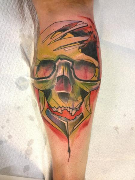 Arm Skull Abstract Tattoo by Voller Konstrat