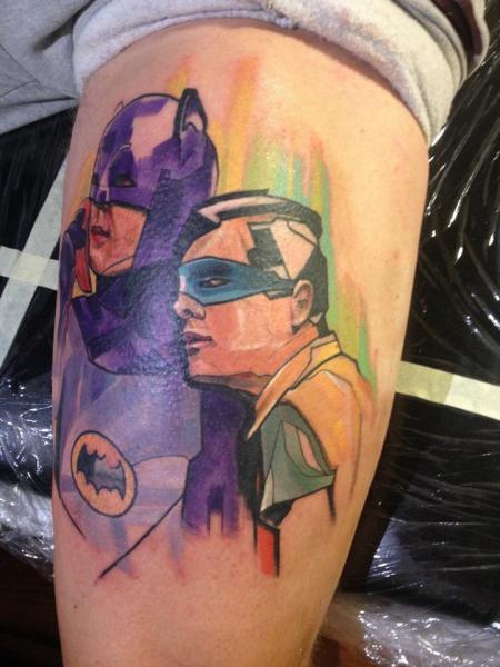 Arm Fantasy Batman Tattoo by Voller Konstrat
