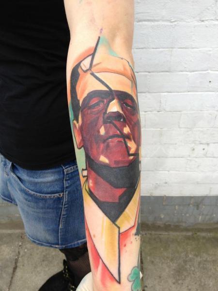 Arm Fantasy Frankenstein Tattoo by Voller Konstrat