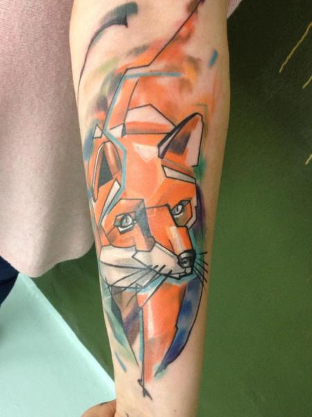 Arm Wolf Tattoo by Voller Konstrat