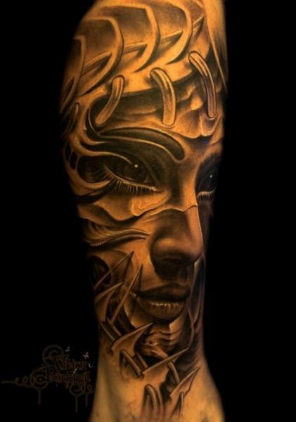 Arm Fantasy Women Tattoo by 9th Circle