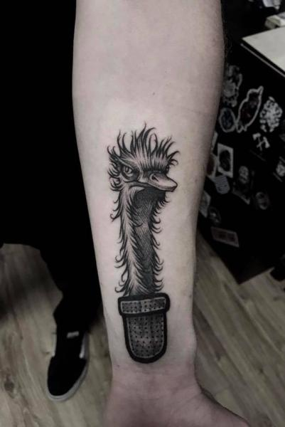 Arm Ostrich Tattoo by 9th Circle