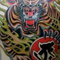 New School Back Tiger tattoo by Rock of Age