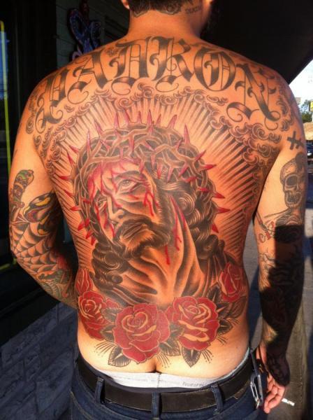 Old School Rücken Religiös Tattoo von Rock of Age