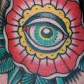 New School Flower Hand Eye tattoo by Rock of Age