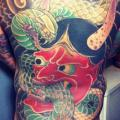 Snake Japanese Back Demon Butt tattoo by Three Kings Tattoo
