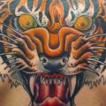 Back Tiger tattoo by Three Kings Tattoo
