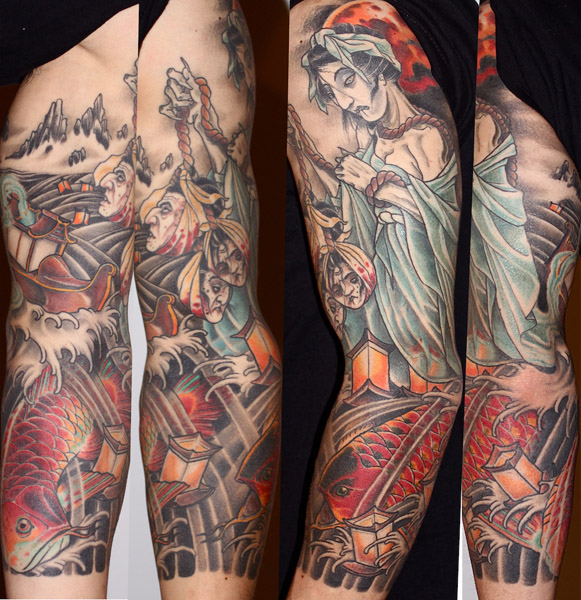 Japanese Sleeve Tattoo by Three Kings Tattoo