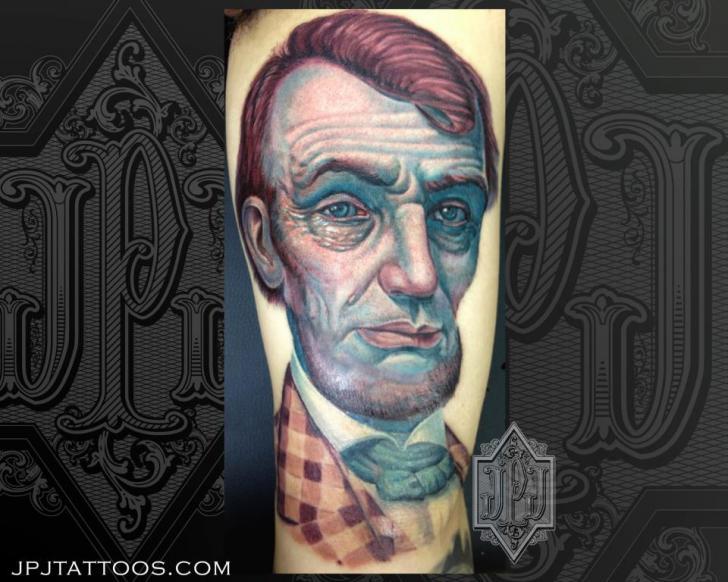 Arm Portrait Tattoo by JPJ tattoos