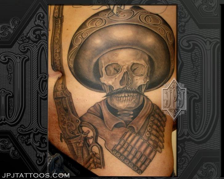 Fantasy Skull Back Hat Tattoo By Jpj Tattoos