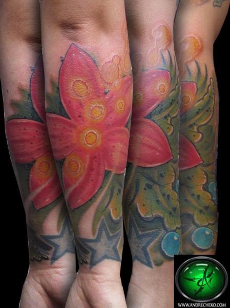 Arm Realistische Blumen Tattoo von Andre Cheko