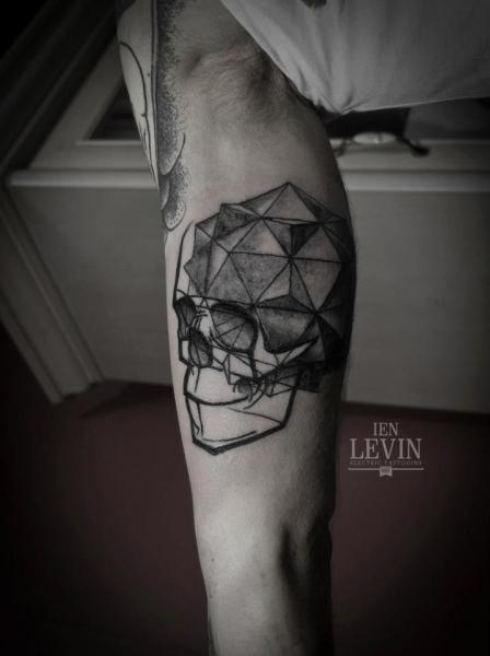 Arm Skull Abstract Tattoo by Ien Levin