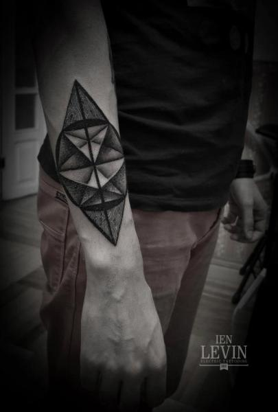 Arm Abstract Tattoo by Ien Levin
