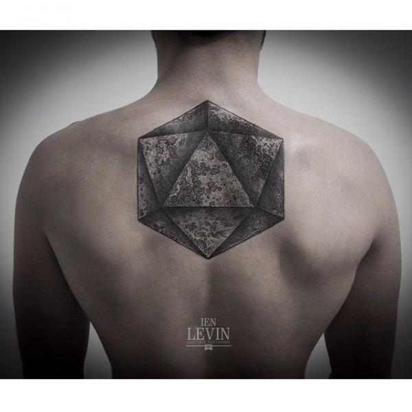 Back Dotwork Abstract Tattoo by Ien Levin