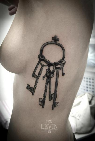 Side Key Tattoo by Ien Levin