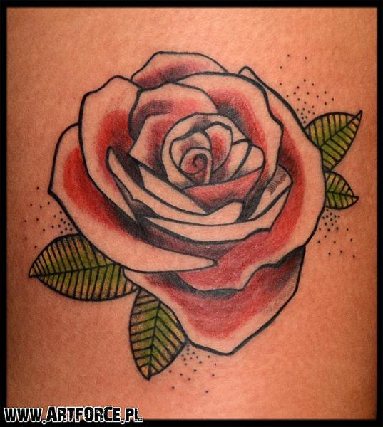 Flower Tattoo by Art Force Tattoo