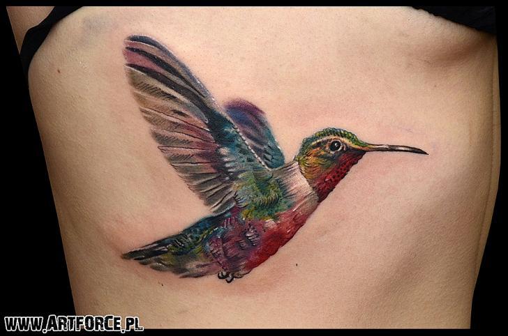 Realistic Side Bird Tattoo by Art Force Tattoo