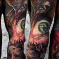 tatuaggio Occhio Manica Nightmare di Art Force Tattoo