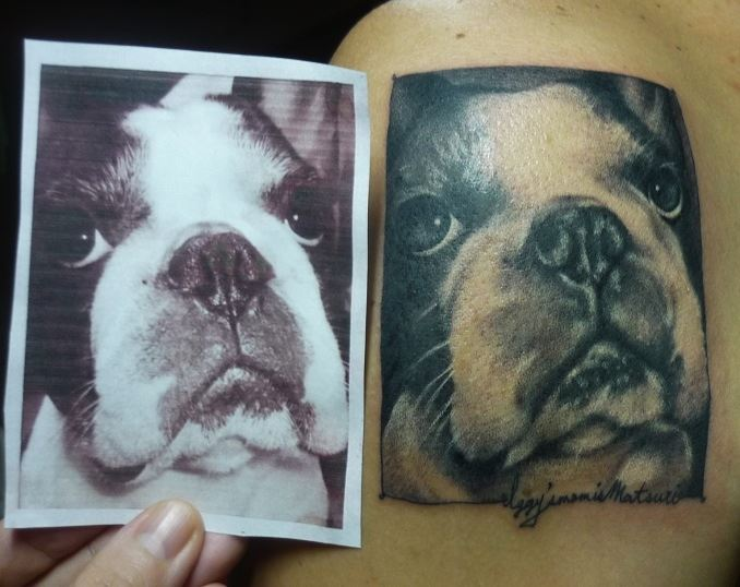 Realistic Dog Tattoo by Chunkymaymay Tattoo
