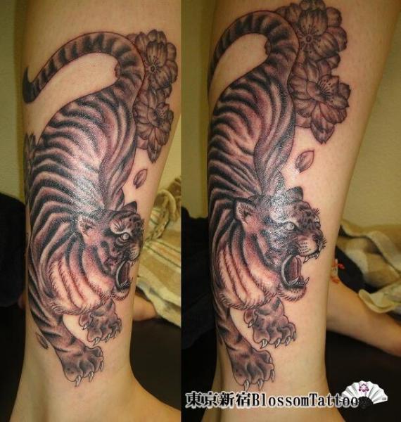 Arm Tiger Tattoo by Blossom Tattoo