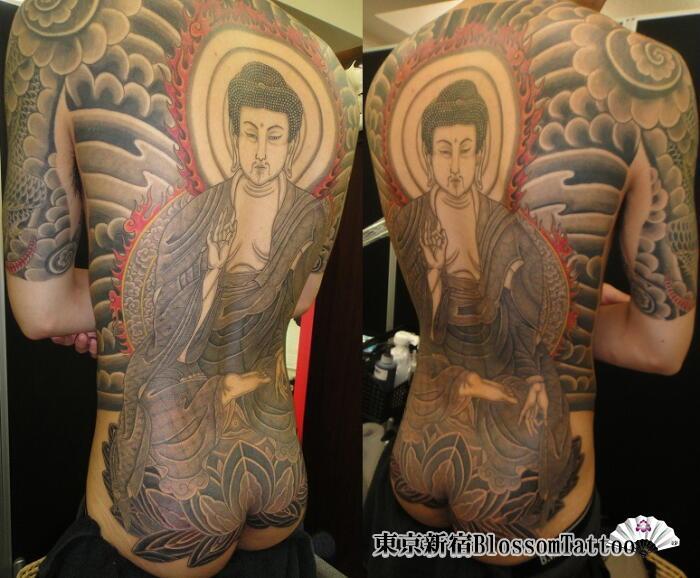 Buddha Back Butt Tattoo by Blossom Tattoo